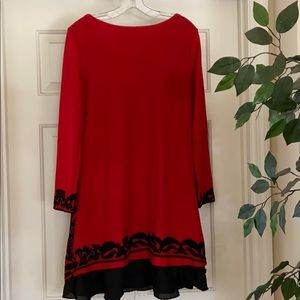 Reborn Dresses - Reborn dress Sz xl (12) red black great with boots
